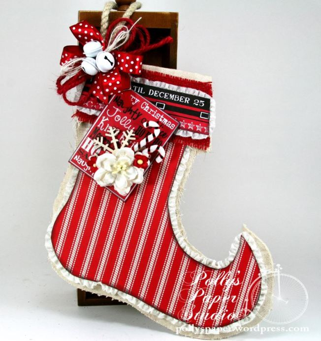 canvas christmas Stocking 1