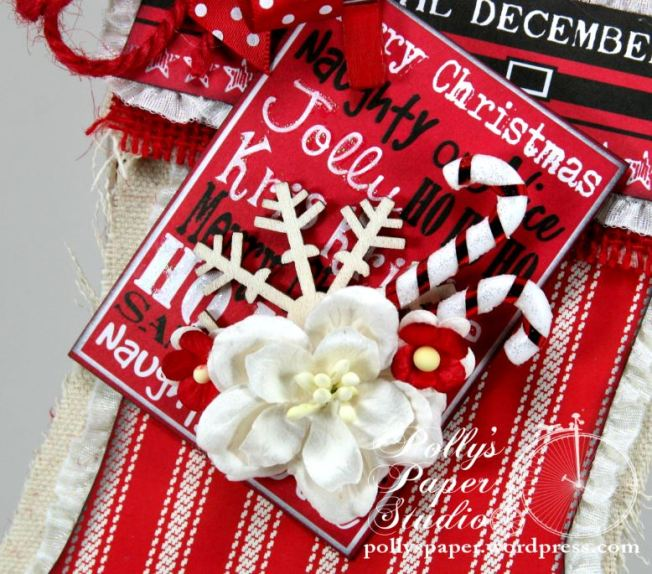 canvas christmas Stocking 2
