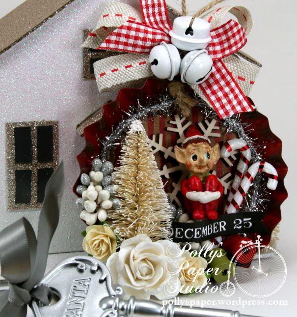 Elf On The Shelf Tin Christmas Ornament