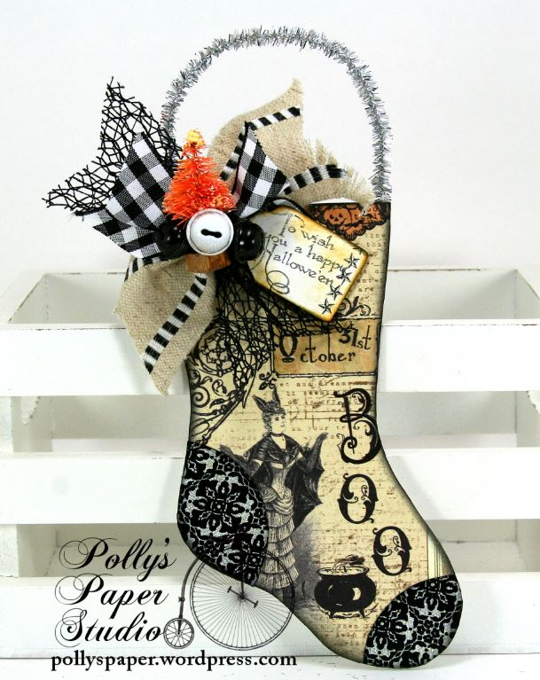 Halloween Stocking Ornament 2 a