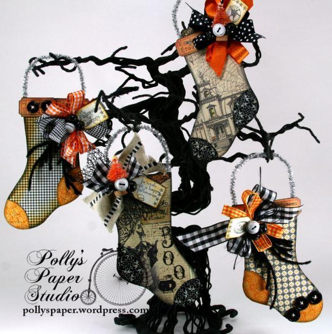 Halloween Stockings Tree