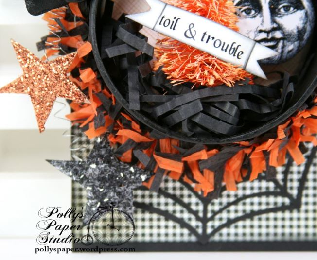 Halloween Tag Ornament Toil & Trouble 3
