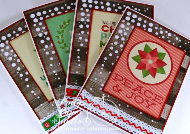Retro Christmas Greeting Card Set 2