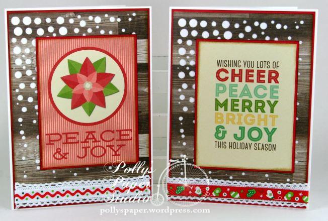 Retro Christmas Greeting Card Set 3