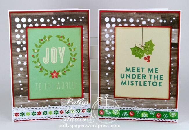Retro Christmas Greeting Card Set 4