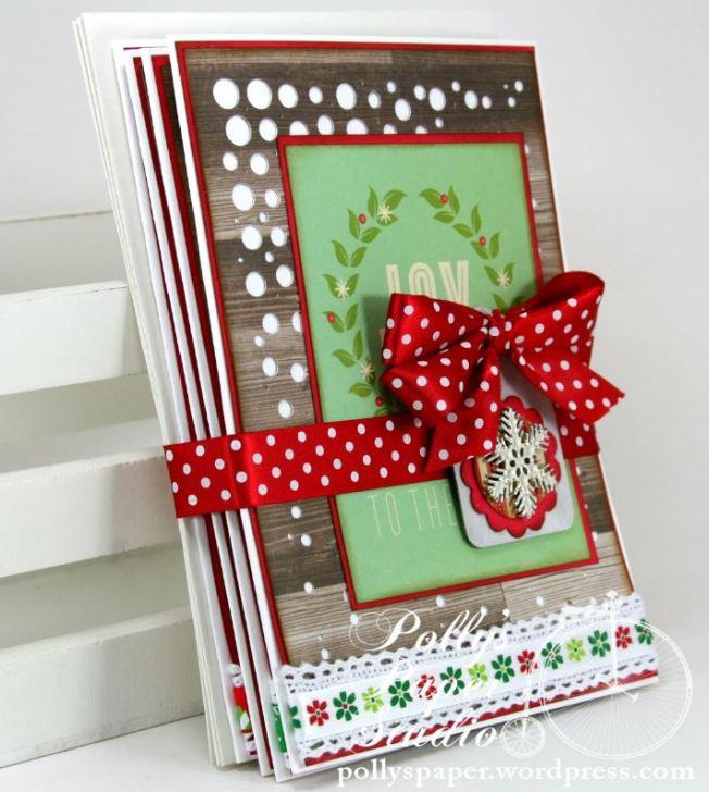 Retro Christmas Greeting Card Set 5