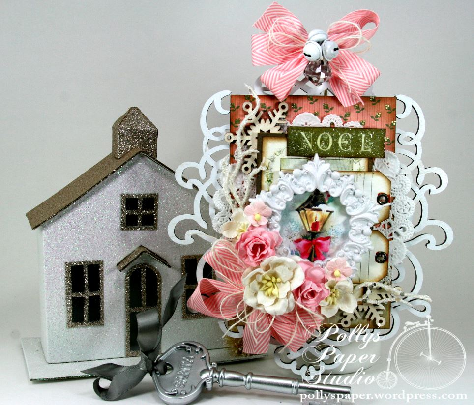 Shabby Chic Pink Christmas Wall Hanging And New Creativity