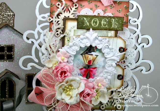 Shabby Pink Noel Christmas Wooden Wall Hanging Holiday Decor 3