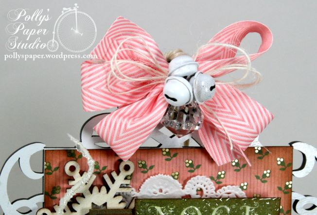 Shabby Pink Noel Christmas Wooden Wall Hanging Holiday Decor 4