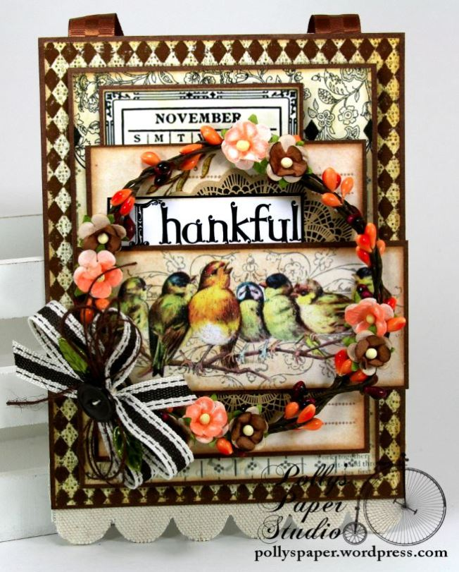 Thankful Birds Wall Hanging 2