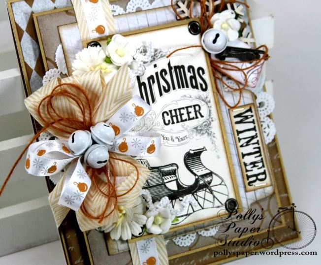 All that Glitters Christmas Greeting Card Handmade