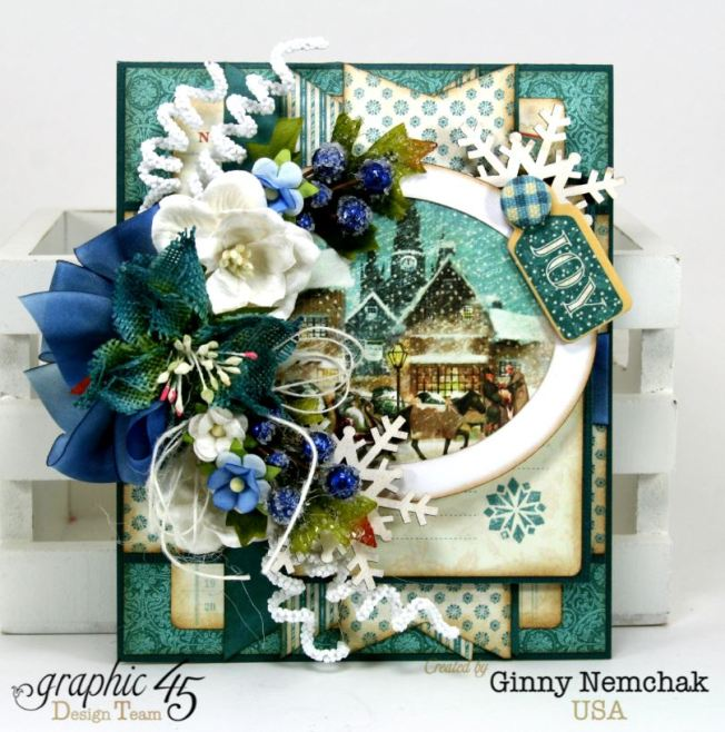 Blue Christmas Card Graphic 45 3