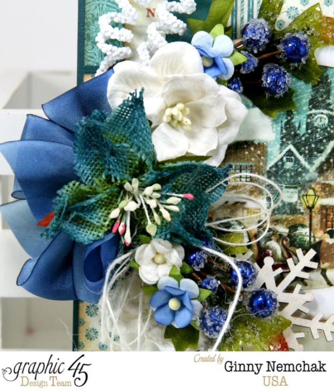 Blue Christmas Card Graphic 45 4