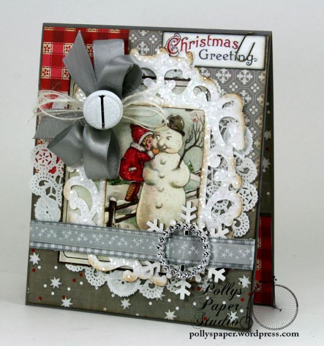 Christmas Greetings Snowman Card 1