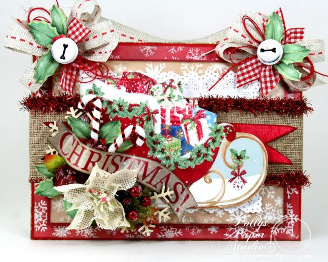 Christmas Sleigh Wall Hanging 2