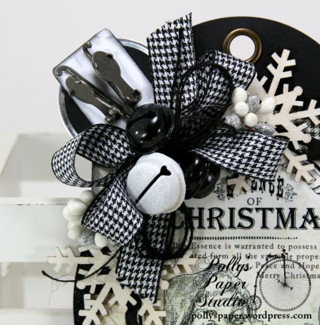 Christmas Tag Black and White 3