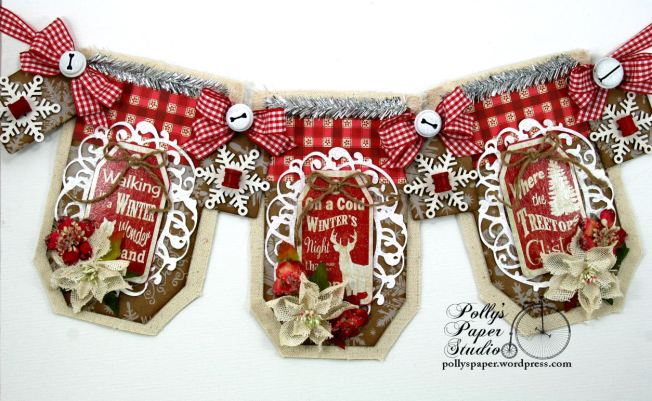 Country Chic Christmas Banner Holiday Home Decor Handmade 1