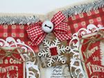 Country Chic Christmas Banner Holiday Home Decor Handmade5