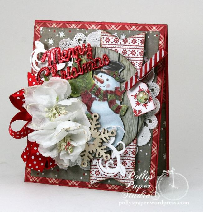 Merry Christmas Snowman Greeting Card 1