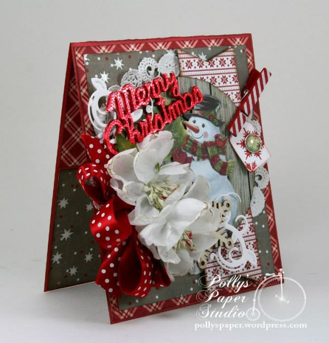 Merry Christmas Snowman Greeting Card 2