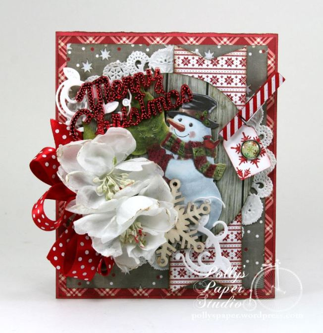 Merry Christmas Snowman Greeting Card 3