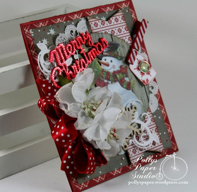 Merry Christmas Snowman Greeting Card 5