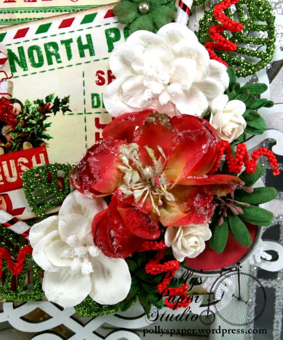 North Pole Postcard Retro Christmas Wall Hanging Holiday Decor 3