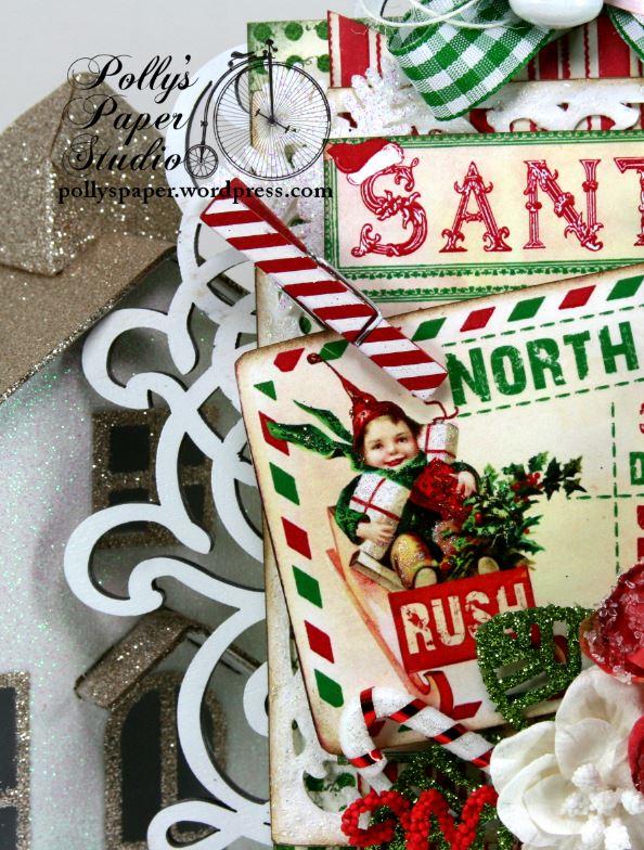 North Pole Postcard Retro Christmas Wall Hanging Holiday Decor 4