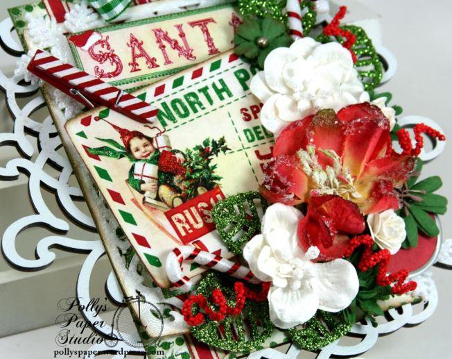 North Pole Postcard Retro Christmas Wall Hanging Holiday Decor 5