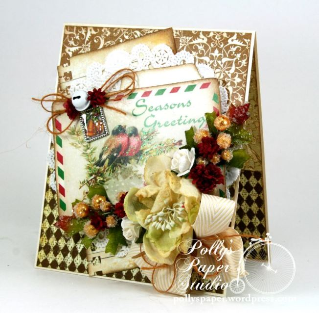 Seasons Greeting Winter Bird Card 1