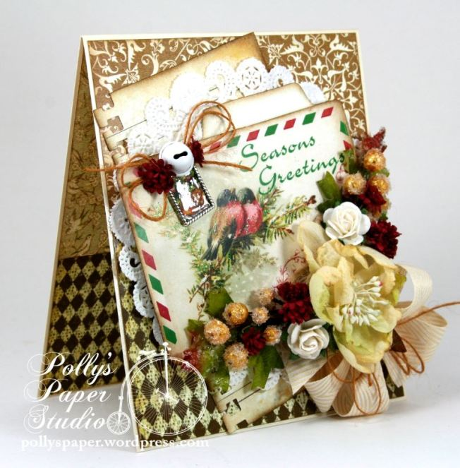 Seasons Greeting Winter Bird Card 2