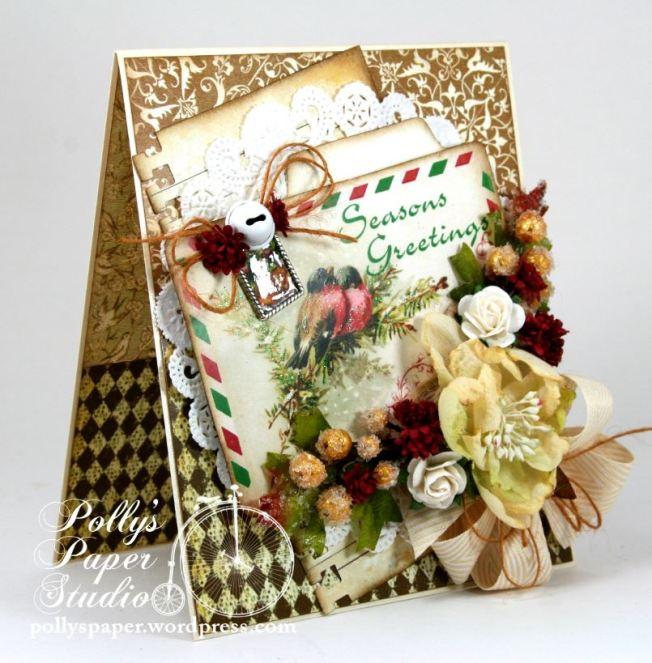 Seasons Greeting Winter Bird Card 2