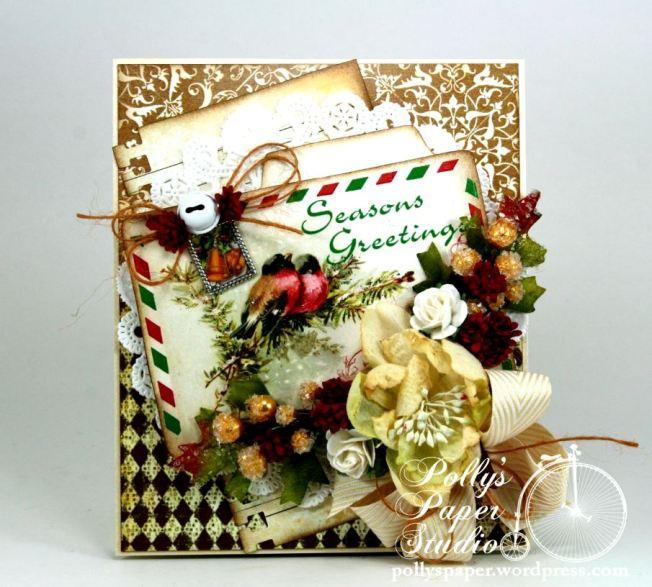 Seasons Greeting Winter Bird Card 3