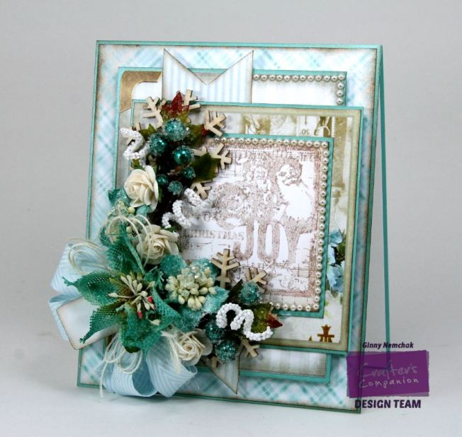 Shabby Blue Joy Card 1