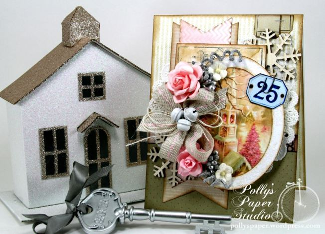 Shabby Pink Church Card 1