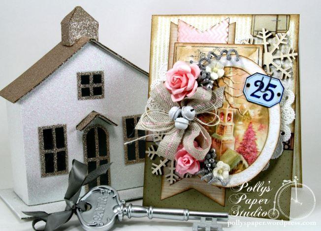 Shabby Pink Church Card 1