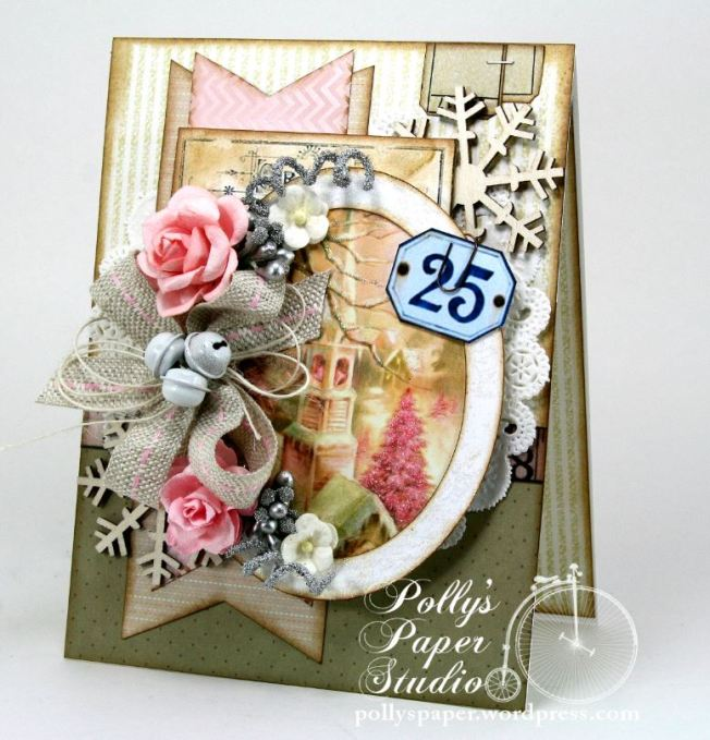 Shabby Pink Church Card 2