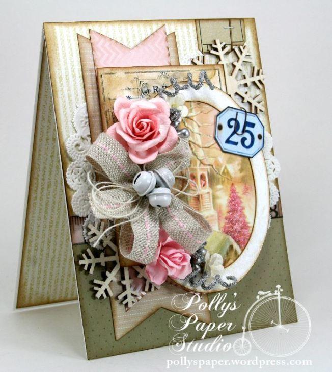 Shabby Pink Church Card 3