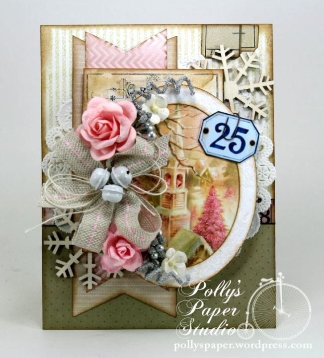 Shabby Pink Church Card 4