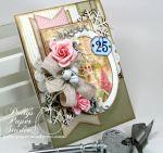 Shabby Pink Church Card7