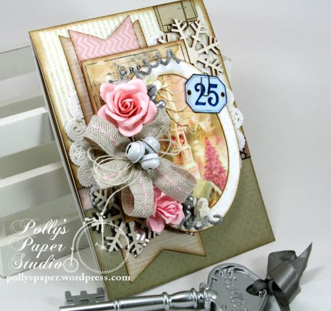 Shabby Pink Church Card 7