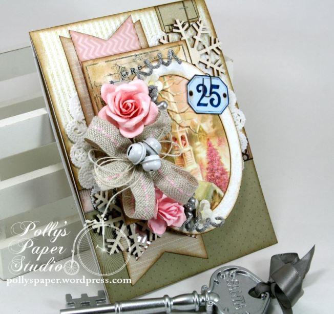 Shabby Pink Church Card 7
