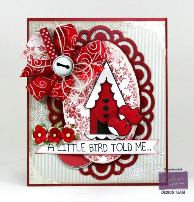 A Little Birdie Told Me it's Christmas Card Crafter's Companion 1