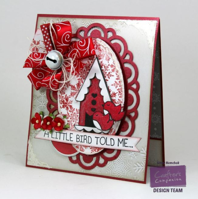 A Little Birdie Told Me it's Christmas Card Crafter's Companion 3