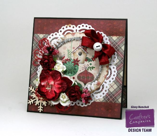 Christmas Birdhouse Card with Crafters Companion 1