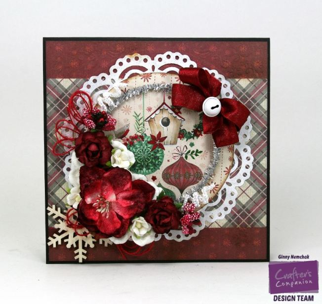 Christmas Birdhouse Card with Crafters Companion 3