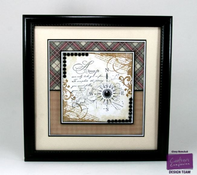 Mens Den Nauticaul Map Home Decor Crafter's Companion 1
