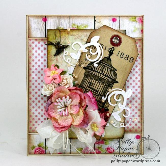 Paris Birdcage Card Pollys Paper 1