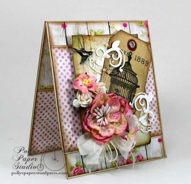 Paris Birdcage Card Pollys Paper 3