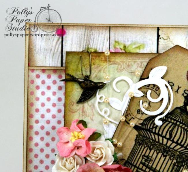 Paris Birdcage Card Pollys Paper 5
